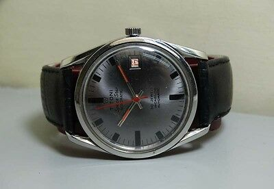 Vintage Titoni Airmaster Automatic Date Mens Wrist Watch Old Used e873 Antique