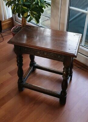 Antique Oak Stool English Sewing Stool Antique furniture