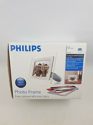 Philips 7FF1M4 Digital Photo Frame Viewer UK Seller New White Modern Clear