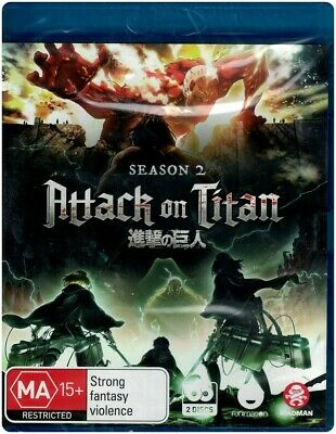 """ATTACK ON TITAN : Season 2"" Blu-ray, 2 Disc Set - Region [B] BRAND NEW"