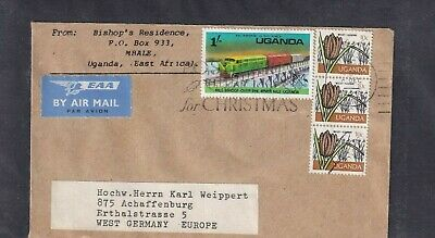 Uganda 146A , 123 HIRSE EUSENBAHN BRÜCKE TRAIN BRIDGE COVER EAT AFRICA BRIEF