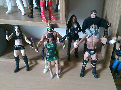 wwe mattel wrestling figures JOB LOTx26,90% of them are new but used for display