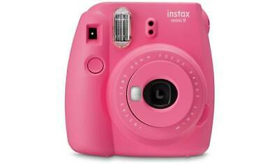 instax Mini 9 Camera with 10 shots - Flamingo Pink  Lens For Perfect Framing _UK