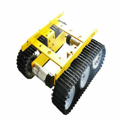 FJ- 12V Scrabooking Robot Car Tank Chassis Kit Alloy with Code Wheel
