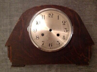 Antique Mantle Clock Case DECO 33x23x11cm With  Dial Clock Face And Glass Door