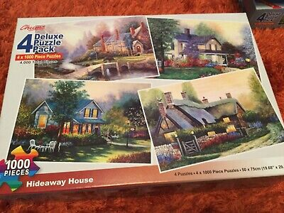 """Chums x4 1000 jigsaw puzzles """"Hideaway House"""""""