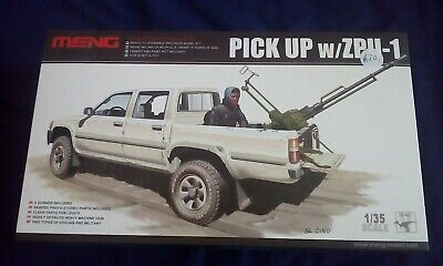 LOOK!!   Meng Model Toyota Hilux with ZPU- 1 1/35 Model Kit