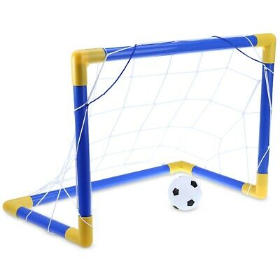 Mini Football Soccer Goal Post Net Set with Pump Indoor Outdoor Kids Sport Toy
