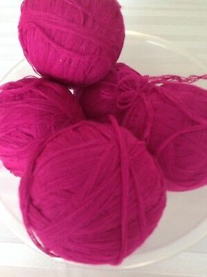 cerise pink wool 600 grams from cone
