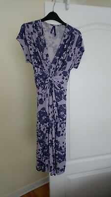 5b4272d501d83 SERAPHINE LAVENDER BLOSSOM Knot Front Maternity Dress Size 12 ...