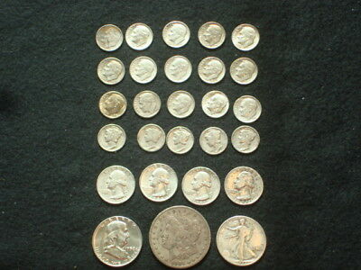 $5 Face Value Lot Of 90% Silver U.s. Coins Mixed Variety L14