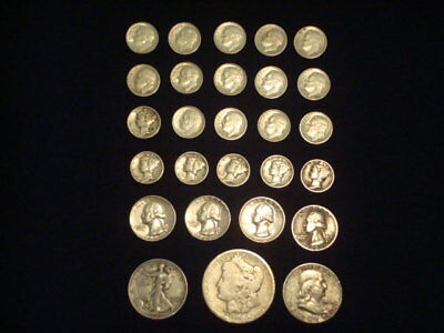$5 Face Value Lot Of 90% Silver U.s. Coins Mixed Variety L10