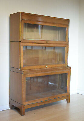 Barristers Bookcase 3 tier. Glass Doors, Similar to Globe Wernicke, haberdashery