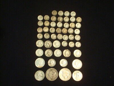 $10 Face Value Lot Of 90% Silver U.s. Coins Mixed Variety L14