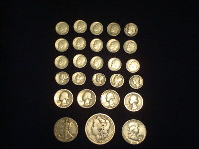 $5 Face Value Lot Of 90% Silver U.s. Coins Mixed Variety L2