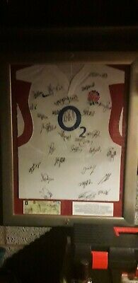 England signed rugby shirt