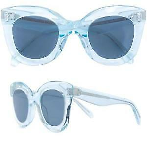 ab5e393646e2 CELINE Marta Butterfly Acetate Sunglasses in Transparent Ice Blue CL40005F  86F