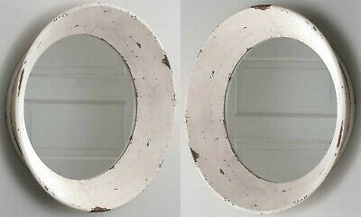 PAIR of 2 Large Primitive Farmhouse 16 in Round Dutch Wall Mirrors  Special Sale