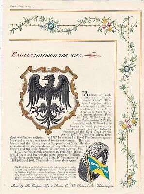 Original 1954 Magazine Advert For Good Year. Eagles Through The Ages. Wilberforc