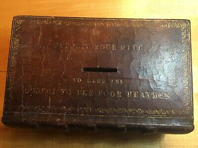 Antique bible miter/charity box, Seamans Bethel  circa 1816