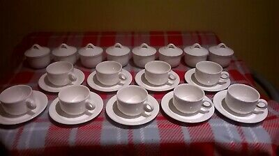 Villeroy &  Boch  Tea cups and saucers, sugar/conserve white Adriana