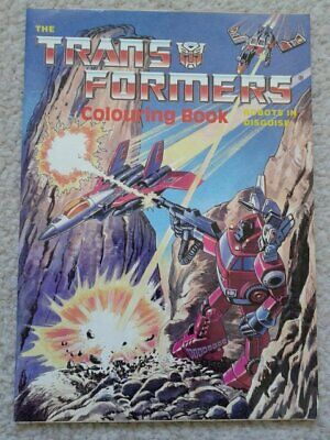 Transformers Colouring Book 1986 by Purnell - Mint unused - Generation One