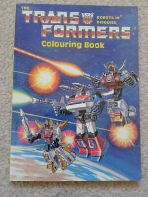 Huge Transformers Colouring Book 1987 by Purnell - Mint unused - Generation One