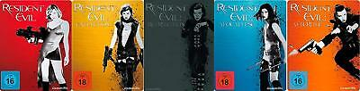 5x Steelbook Resident Evil Collection Extinction Retribution Apocalypse Blu-Ray