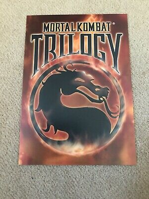 MORTAL KOMBAT TRILOGY Promotional A5 Postcard VGC PlayStation 1 Promo Card