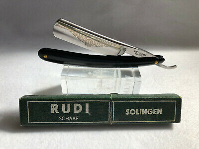 "Vintage Rudi Schaaf 13/16"" Straight Razor  Cut Throat Solingen"