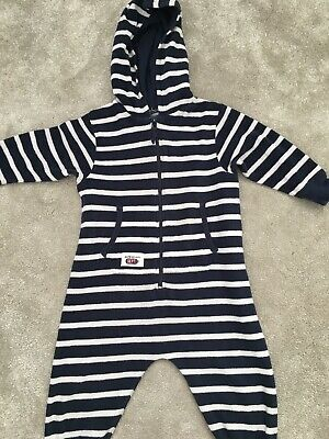 Next Baby Boys 18-24 Months Toweling Suit All On One Babygrow Beach Summer