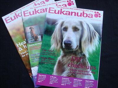 Eukanuba Dog Food Magazine x3 Pet Dog Puppy Info Care Grooming Feeding Training