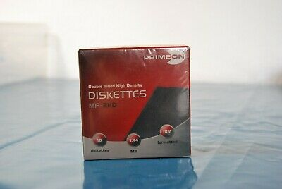 """Primeon MF-2HD, 3 1/2"""" 1,44MB Double Sided High Density Diskettes, 10 Stück, OVP"""