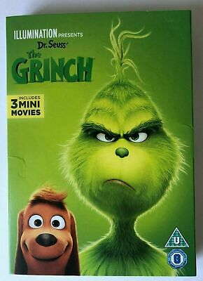 The Grinch : Includes 3 Mini Movies (DVD 2019) With Slip Cover New & Sealed