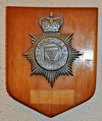 Cornwall Constabulary mess wall plaque shield crest Police