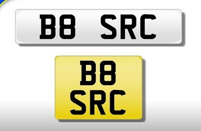 B8 SRC ... Personalised cherished number plate
