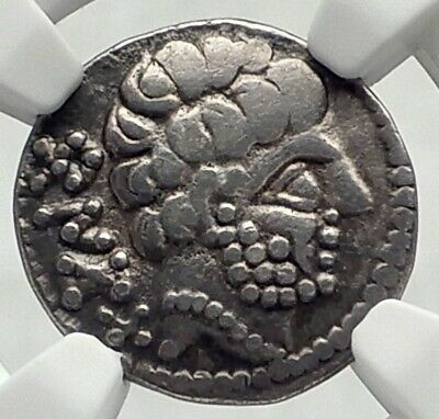 Barskunes Spain IBERIA Ancient Silver Denarius Drachm Greek Coin NGC i77488