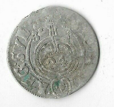 1633 Silver 1/24 Thaler Rare Old Medieval Era Antique Ancient Collection Coin