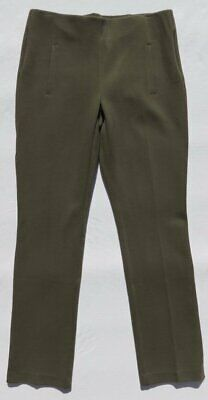 NEW SO SLIMMING CHICO'S Green Stretch Ponte Knit Pull On JULIET Pants 00 US 2