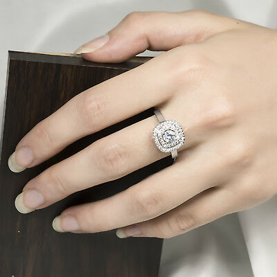 Womens 1.5 CT Engagement Promise Anniversary RING Round Cut Silver SIZE 6-9