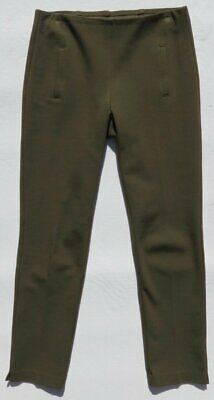 CHICO'S Olive Green Stretch Ponte Knit Pull On JULIET Ankle Pants 00 US 2 4 MINT