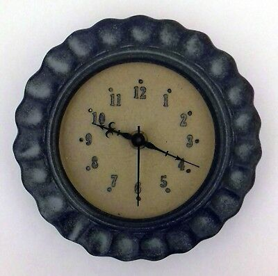 Vintage Junghans Grey Ceramic Wall Clock Made In Germany