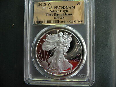 2017-W Proof $1 American Silver Eagle PCGS PR70DCAM First Day of Issue First Lab