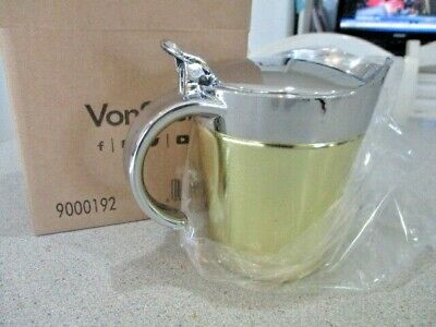 VonShef Stainless Steel Gravy Boat with Lid 16oz Insulated Gravy Jug - Gold