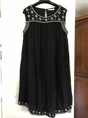 Jojo Maman Bebe Maternity Dress Medium Embroidered Stunning