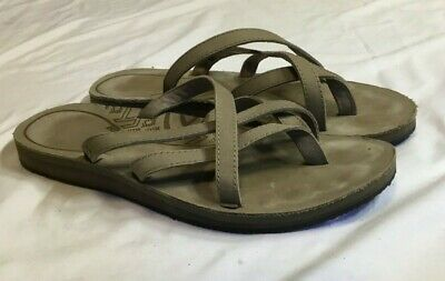 eaed60528f04 WOMENS TEVA OLOWAHU Leather Flip Flop Sandals Size 9 -  14.99