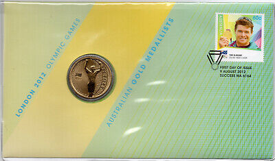 2012 Australia $1 Unc Mascot Coin The Road to London Olympic Team PNC