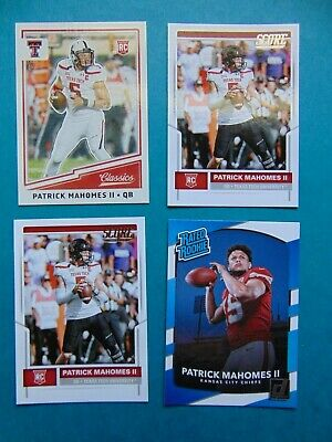 2017 Patrick Mahomes Ii Panini Lot Of 4 Rookie Cards Rc   Kansas City Chiefs