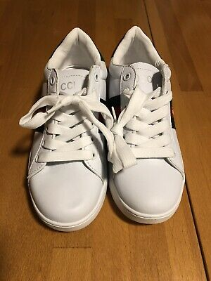 638bbcb7c16 GUCCI ACE SNEAKERS With Gucci Stripe Leather Size US8 -  380.00 ...