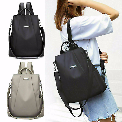 Women Waterproof Oxford Cloth Travel Backpack Nylon Anti-theft Double Shoulder